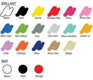 Stickez - couleur disponibles